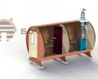 Конструкция макси бочки-бани