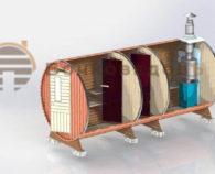 Конструкция премиум бочки-бани