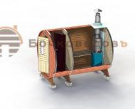 Стандарт бочка-баня конструкция